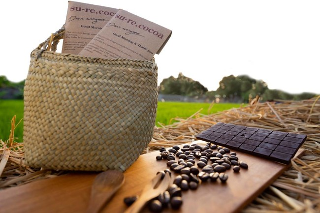 su-re.coがインドネシア農家と製造している「su-re.cocoa(チョコレート)」